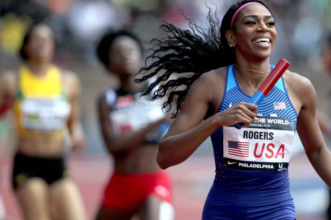 Penn Relays: United States women set world record in sprint medley, dominates USA vs. The World relays