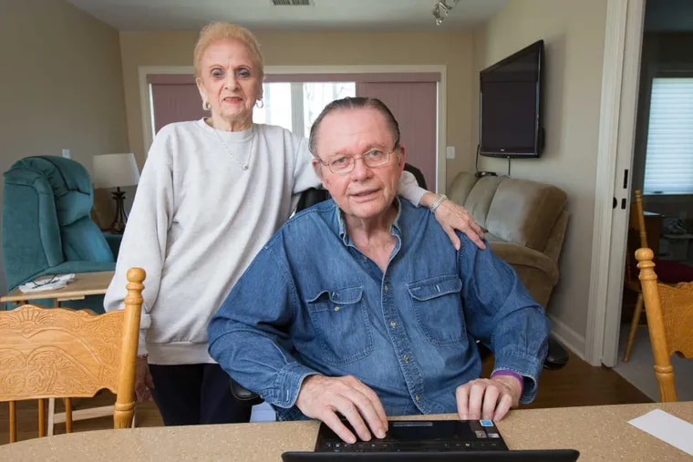Ethel and Bill Lyon in their new stair-free apartment.