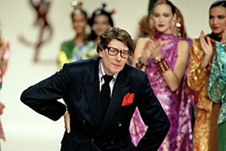 A 1989 file photo of French designer Yves Saint Laurent, who died this week.