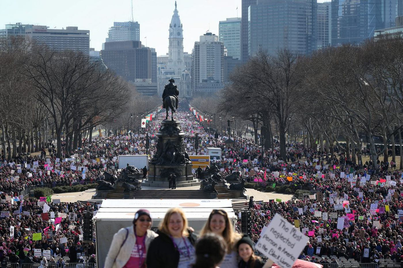 women s march on philadelphia thousands protest for the second time