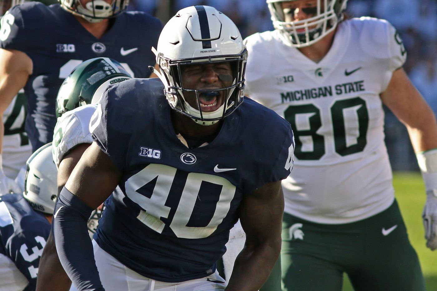 After leaving home in Canada for the love of football, Jesse Luketa ready to compete for playing time at Penn State