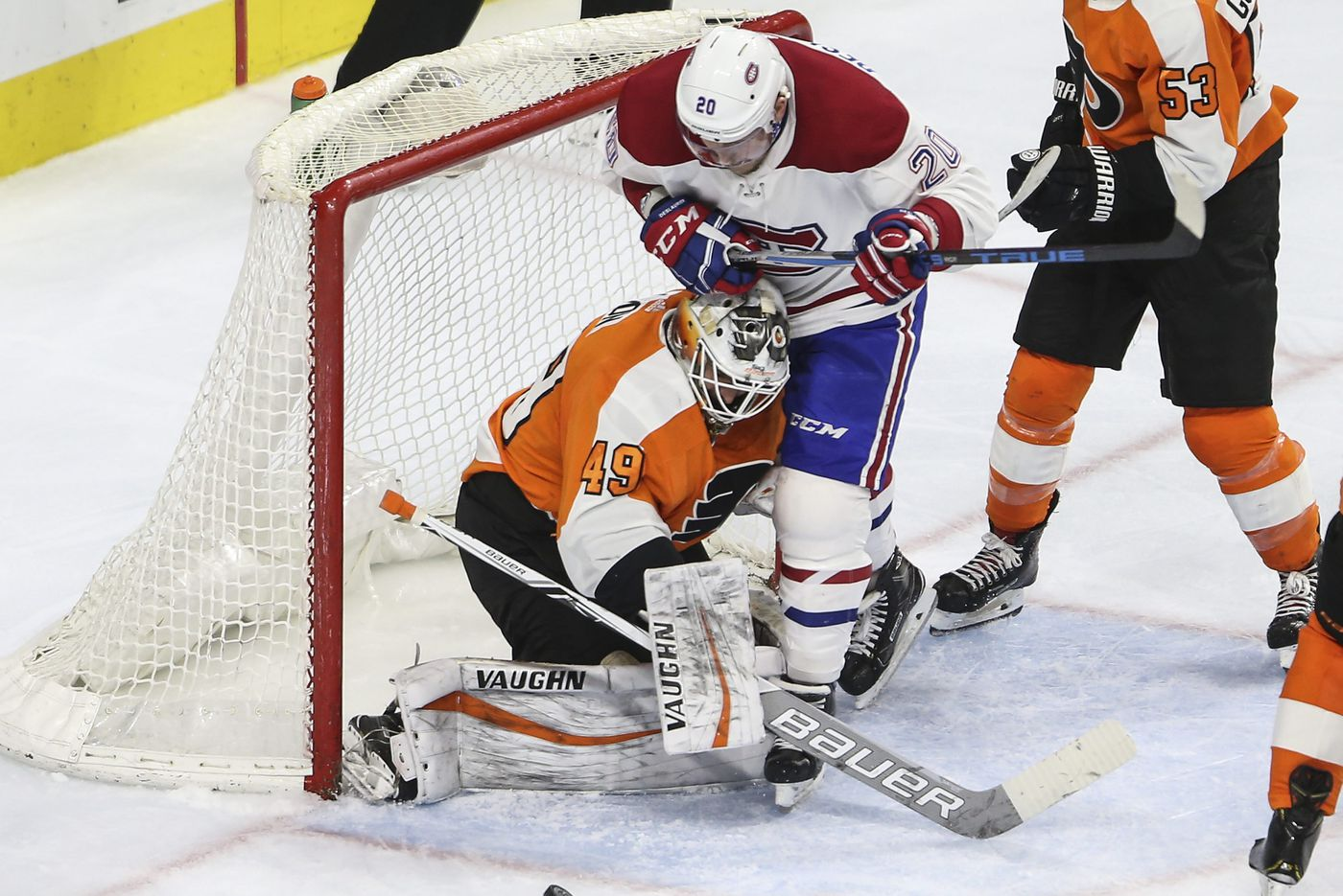 flyers alex lyon out four weeks leaving goalie situation unsettled