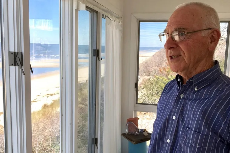 Vince Grimm, 80, at his longtime Cape May County home. His husband died last year and Grimm plans to continue his active life after he finds a new and smaller home.