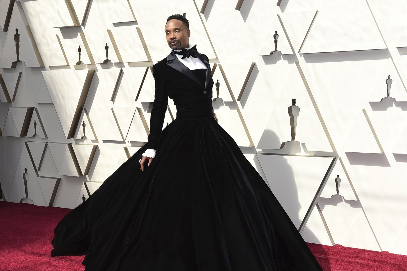 Billy Porter's fabulous red carpet gown says nothing about any lack of masculinity. Deal with it. | Elizabeth Wellington
