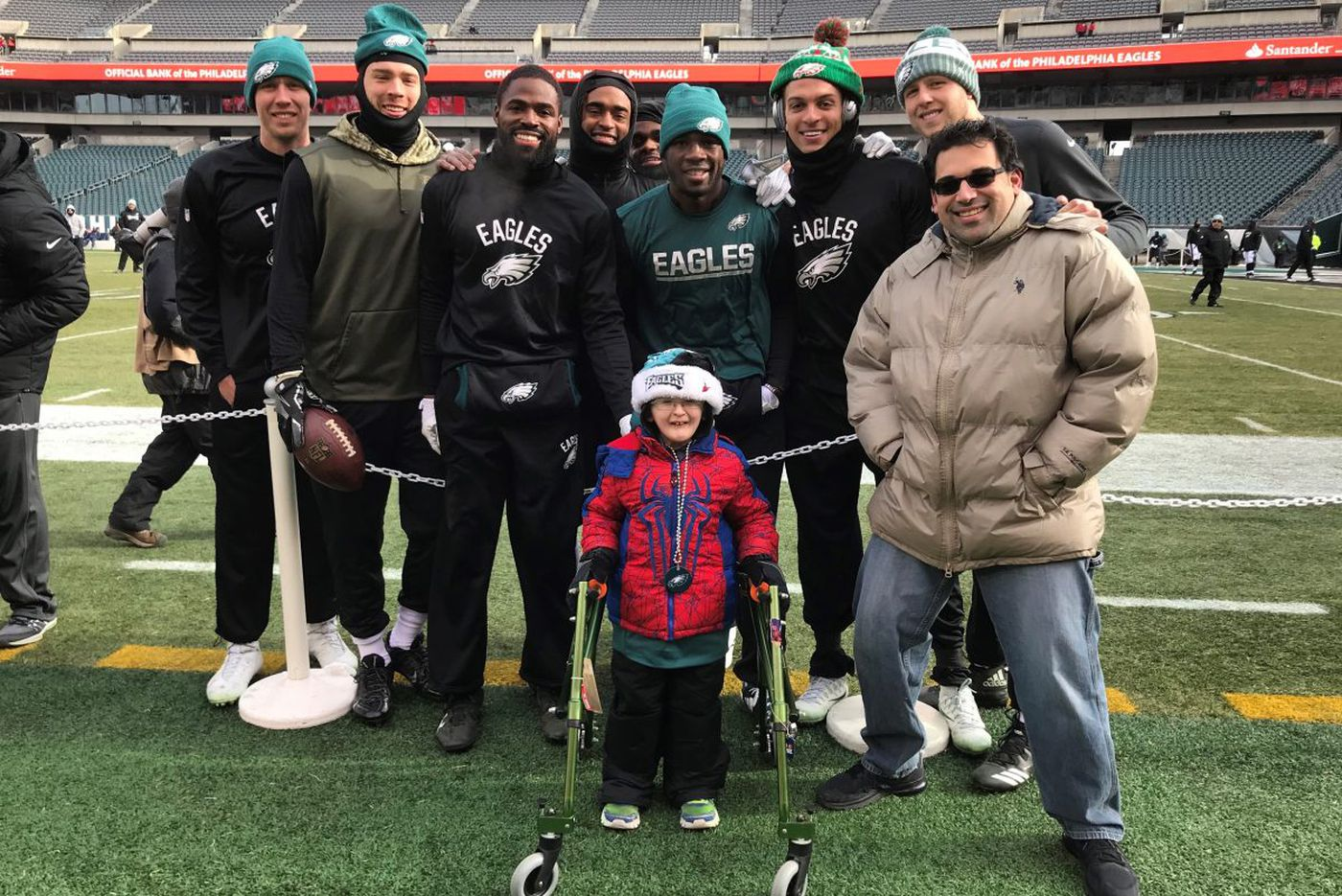How a celebrity cleft palate dog made a boy's dream of meeting the Eagles come true