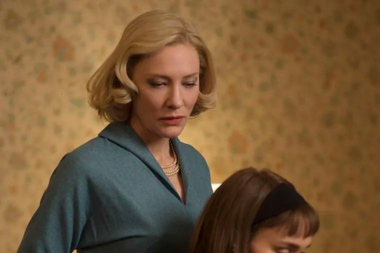 "Love story: Cate Blanchett (left) and Rooney Mara in ""Carol."""