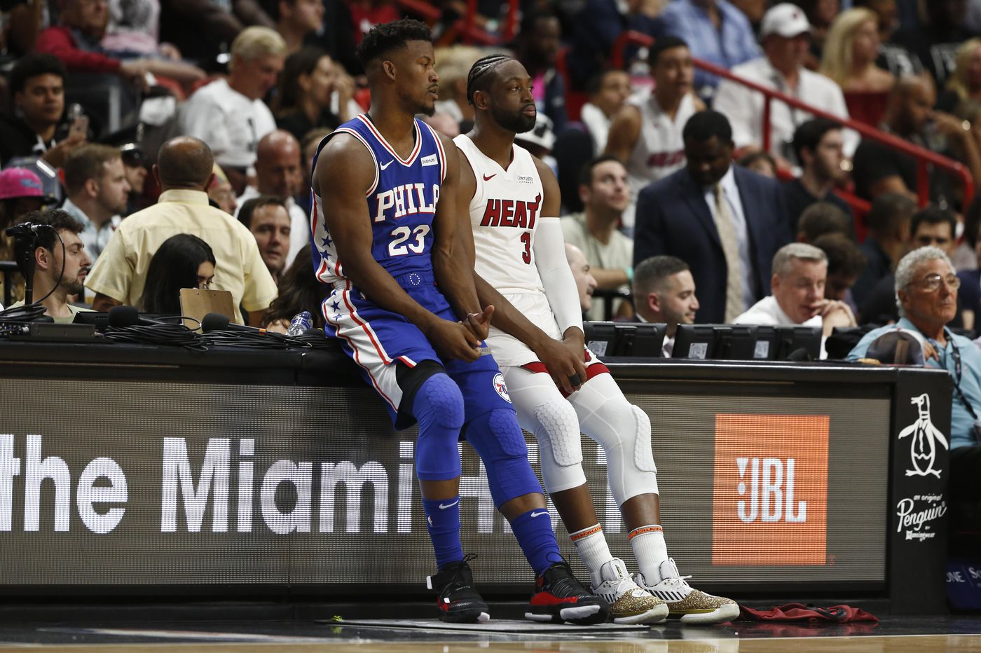 Sixers get blown out by Heat in Dwyane Wade's final home game