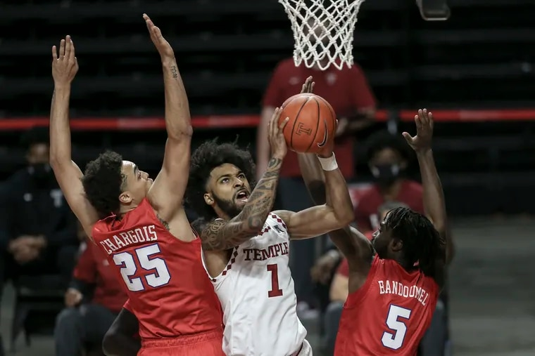 Temple's Damian Dunn finished with 15 points in just 21 minutes.