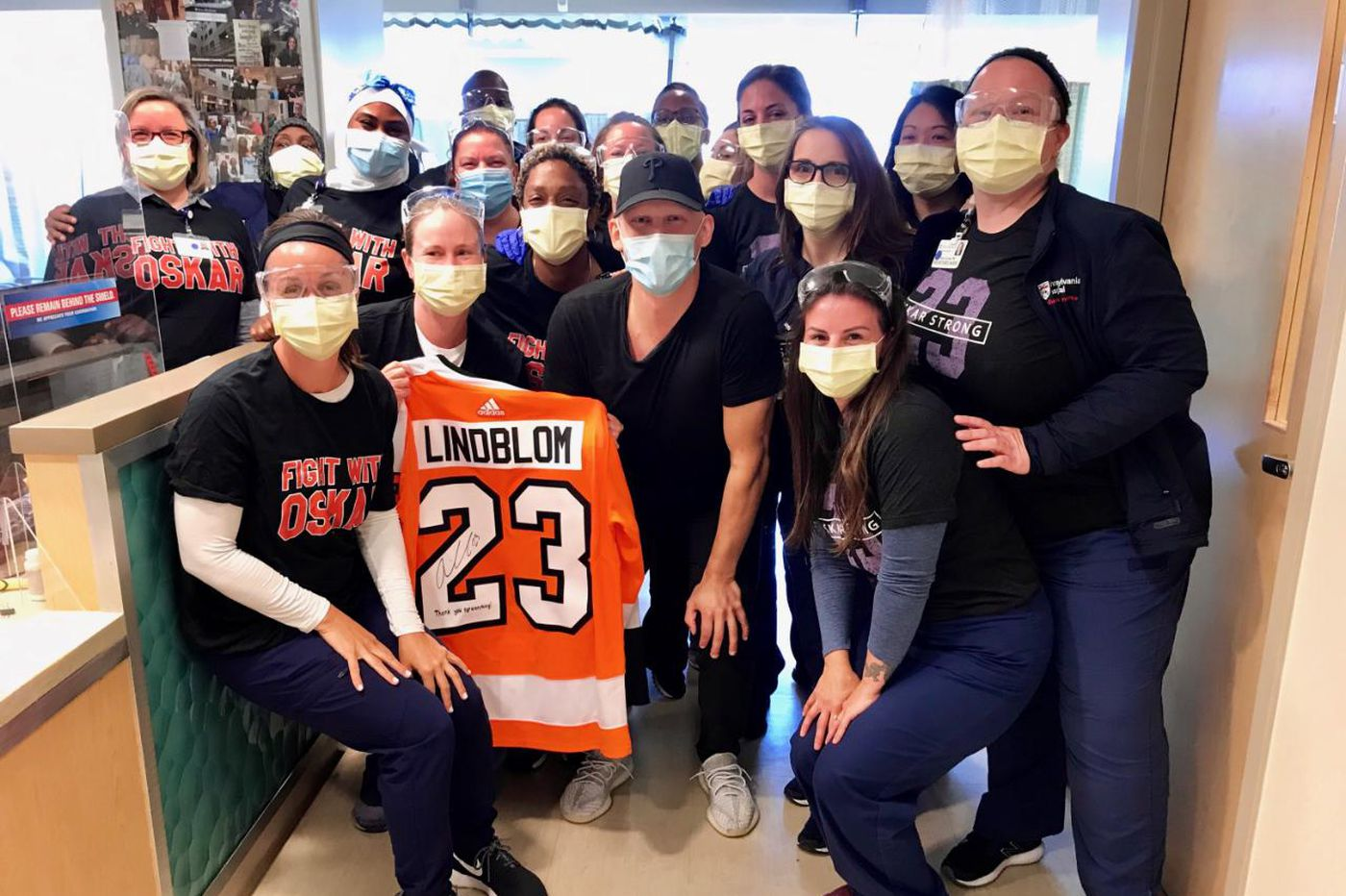 Flyers' Oskar Lindblom completes final chemotherapy treatment