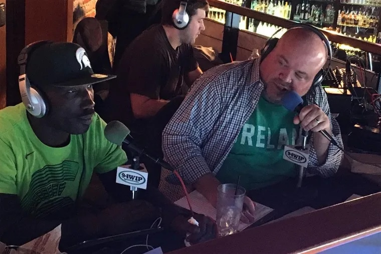 WIP host Chris Carlin (right) is set to leave Philadelphia and co-host Ike Reese behind to return to New York City radio.