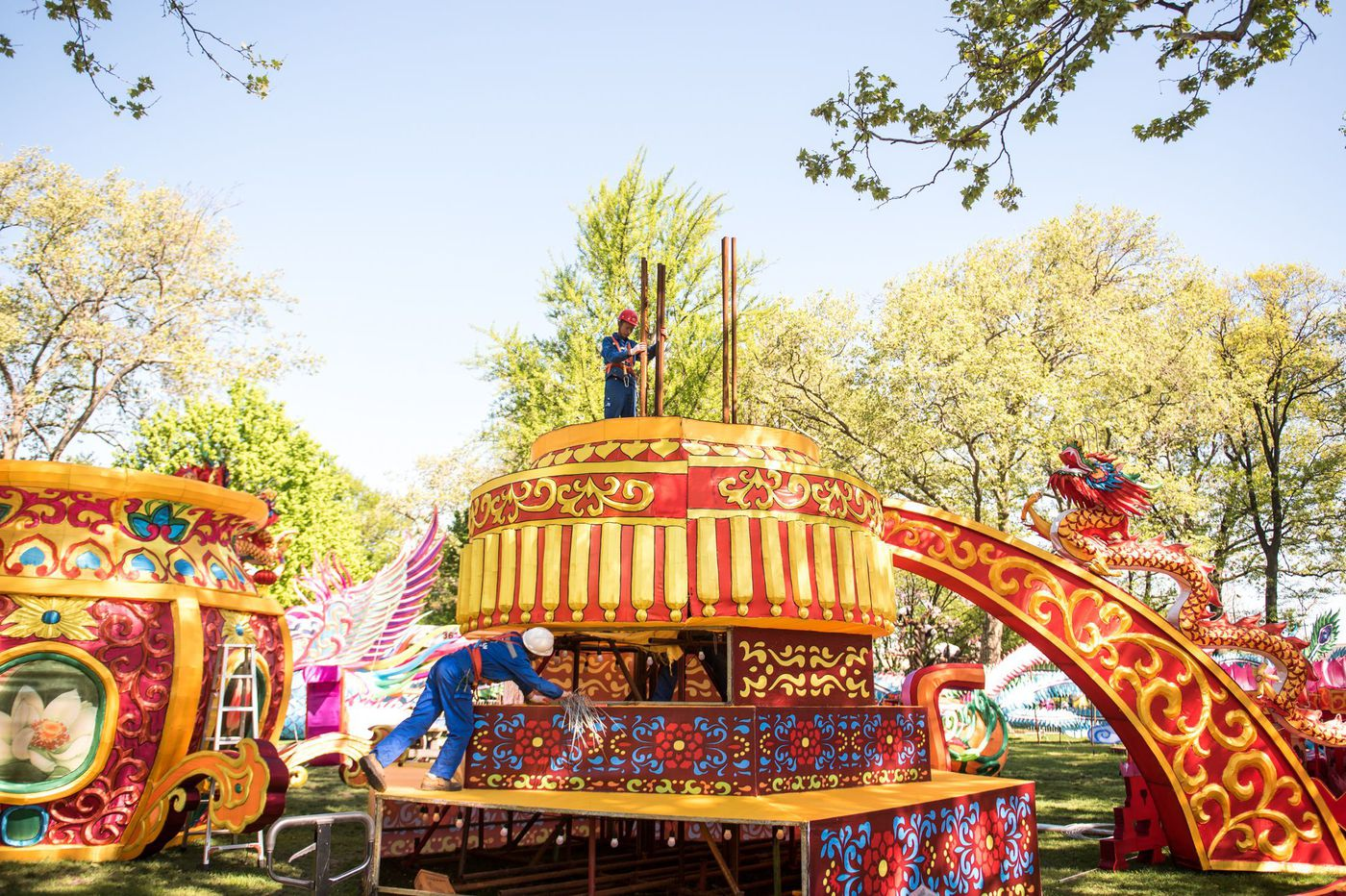 Behind the scenes of Philadelphia Chinese Lantern Festival: How the massive production comes together, from China to Franklin Square