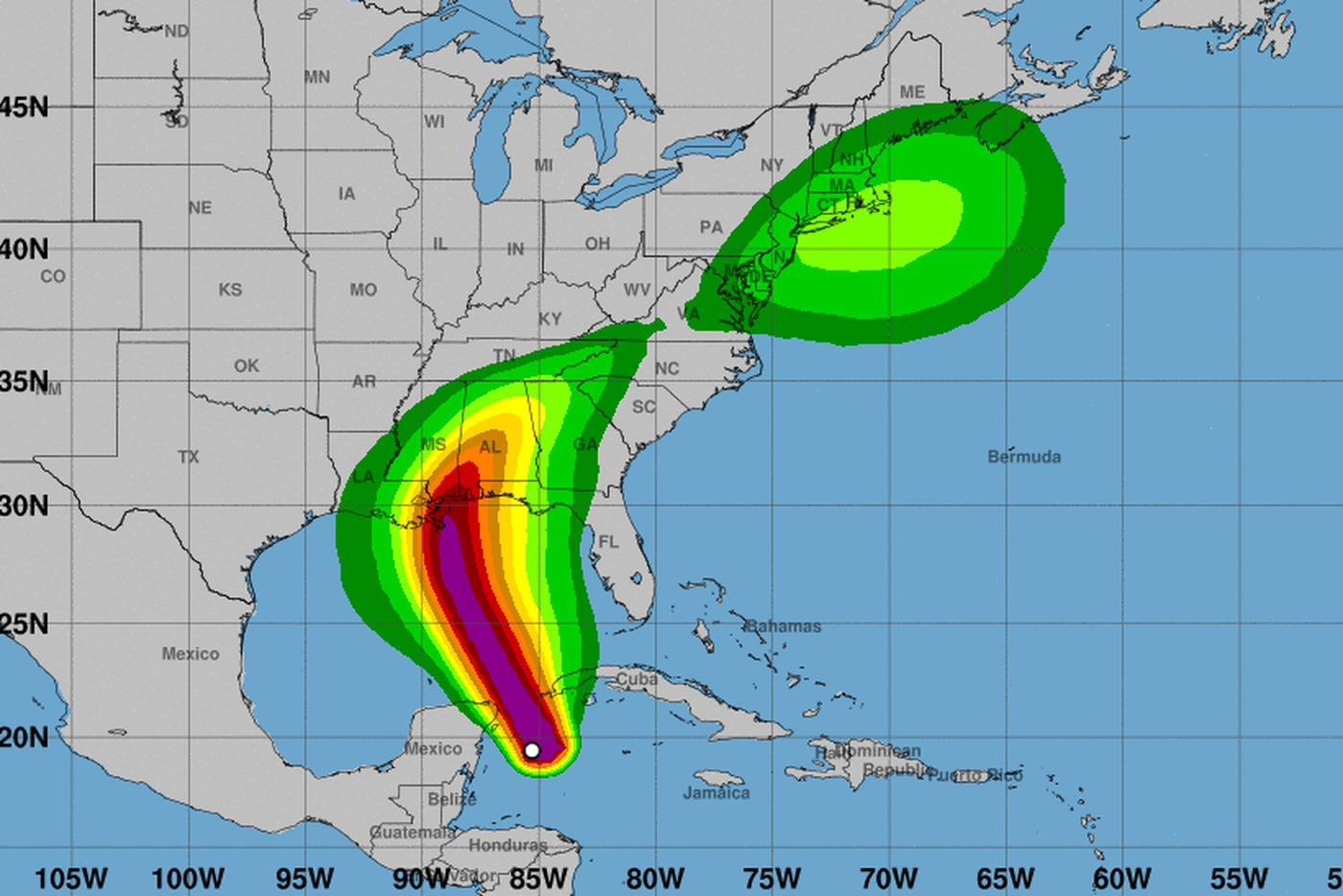 Hurricane warning for Gulf; Philly region in Nate's path