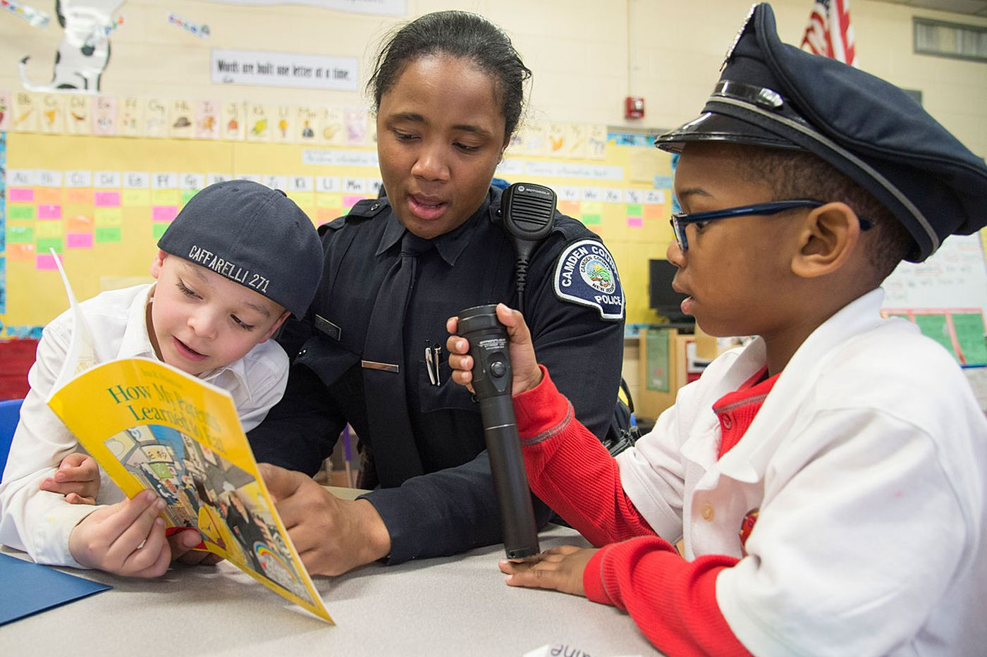 Giving back to Camden, an officer on patrol