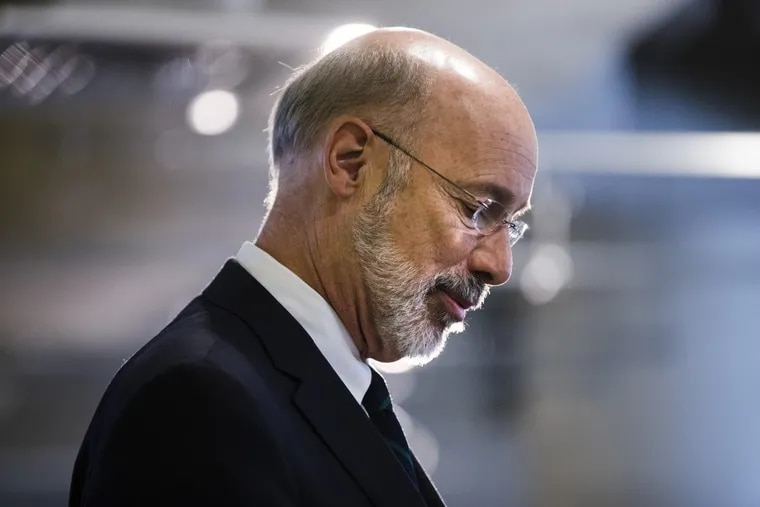 File photo shows Governor Tom Wolf. Wolf thanked the workers who care for thousands of intellectually disabled Pennsylvanians in group homes, but advocates say what they need is financial support.