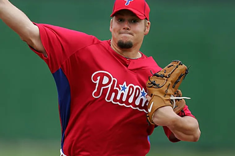 Joe Blanton could be back with the Phillies on May 1. (David Swanson/Staff file photo)