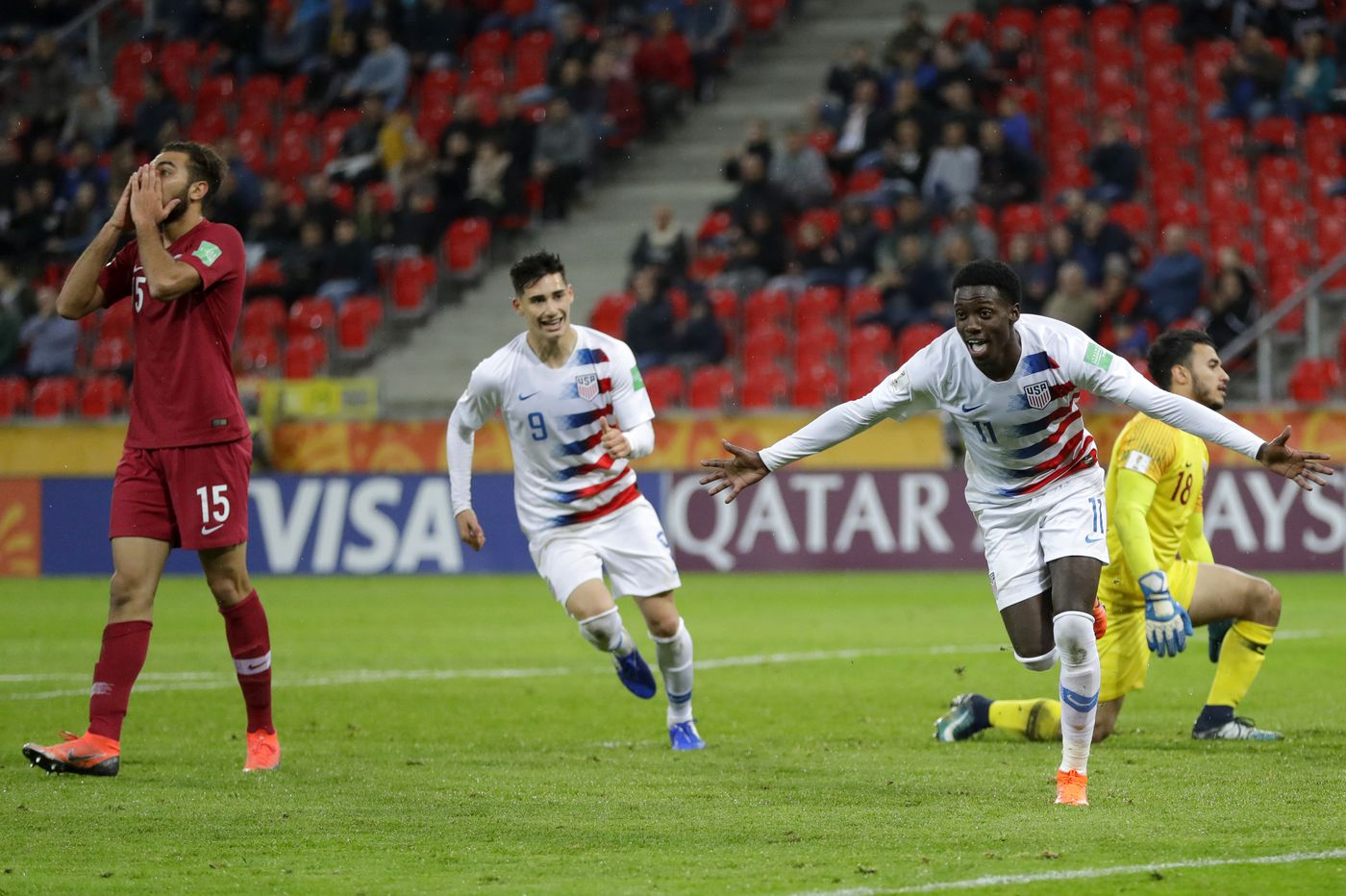 Tim Weah goal sends U.S. to under-20 World Cup knockout rounds with 1-0 win over Qatar