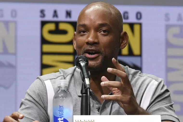 """Will Smith speaks at the Netflix Films' """"Bright"""" panel at Comic-Con International on Thursday, July 20, 2017, in San Diego"""