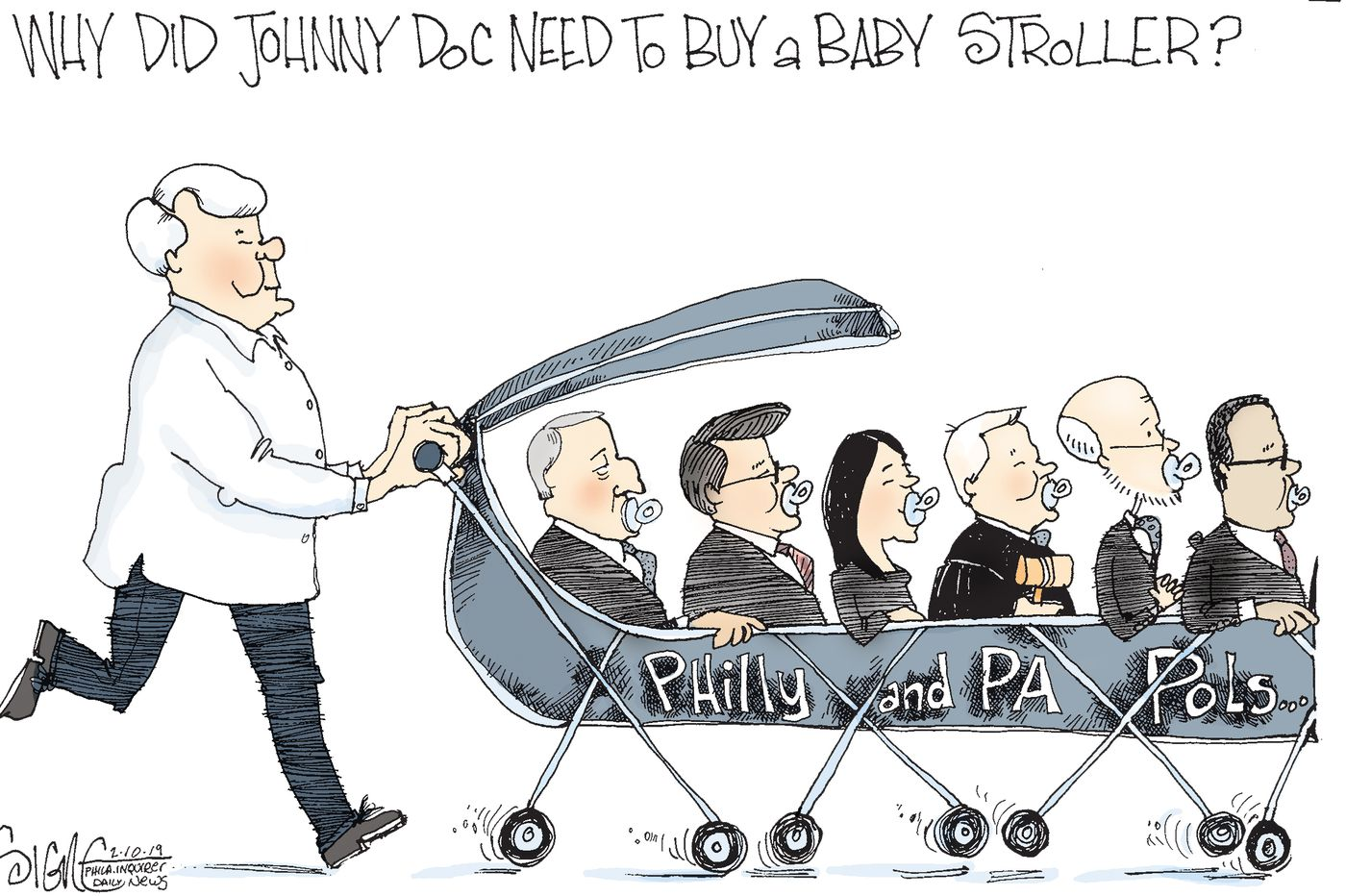 Political Cartoon: Johnny Doc's Political Stroller