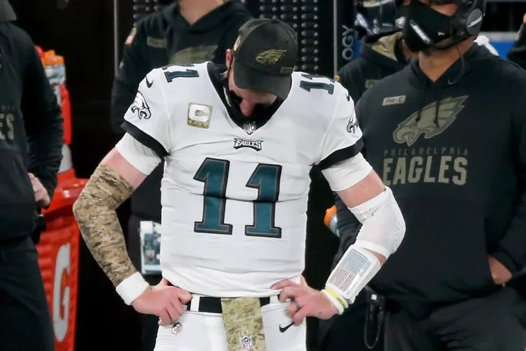 Carson Wentz, who hasn't been able to avoid injuries in his career, is hurt again.