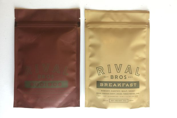 Loose-leaf tea to brew at home, made by Rival Bros. coffee roasters