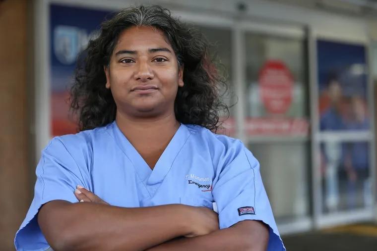 ER doctor Priya Mammen, who handles a lot of the neighborhood's overdoses, is pictured at Methodist hospital in Philadelphia, PA on September 12, 2018.