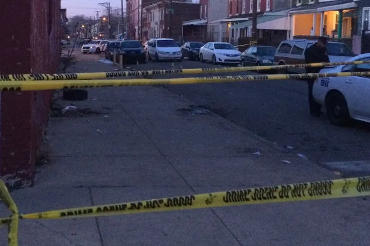 A second man was shot twice in the head during the violence near 12th and Somerset streets yesterday.