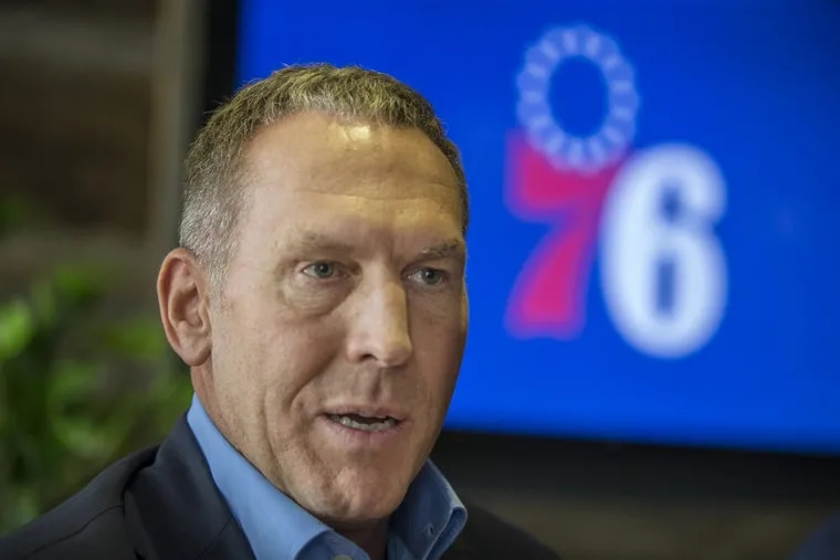 Bryan Colangelo, president of basketball operations for the 76ers, in a September 20, 2017 file photo.