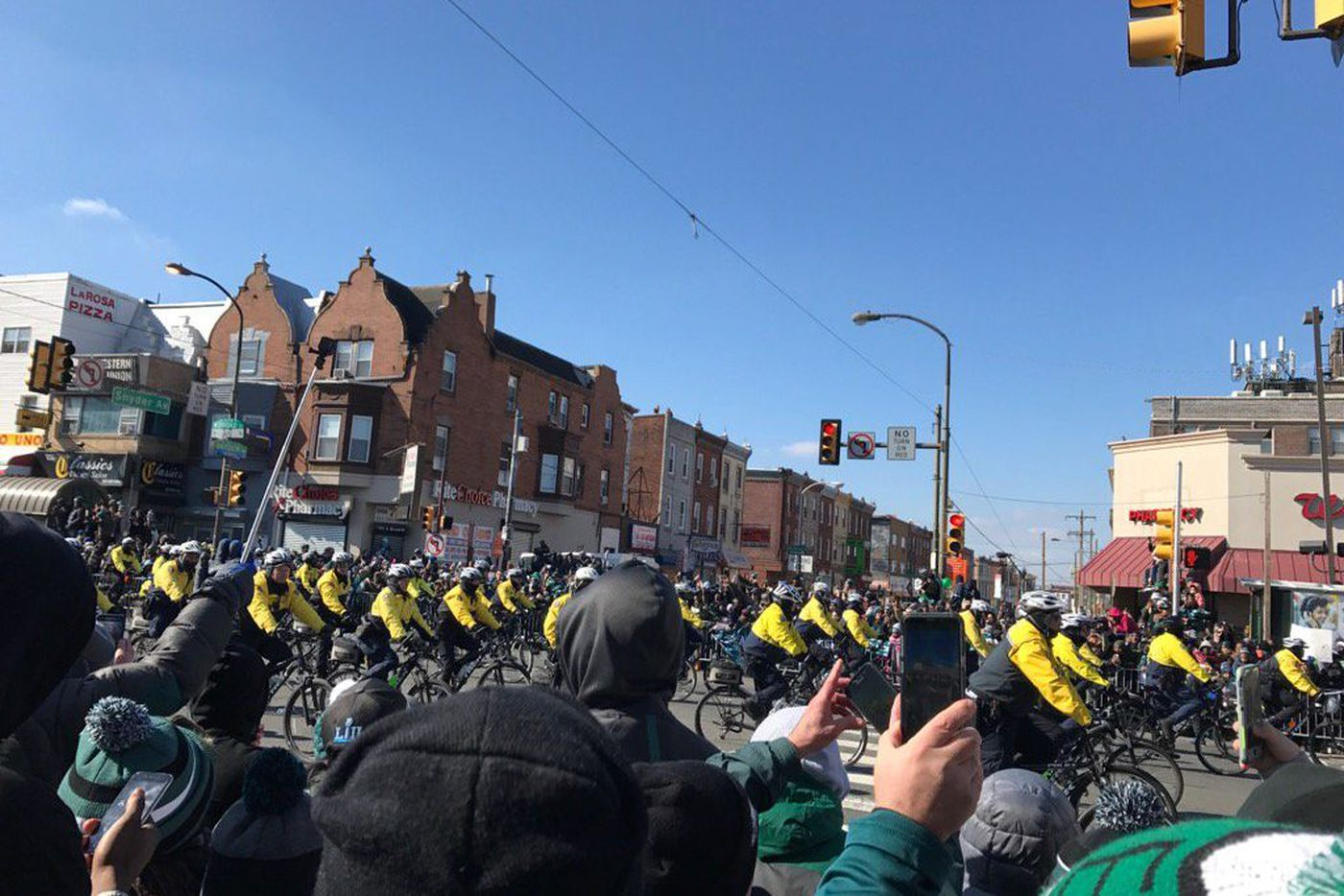 Philadelphia police join Eagles parade celebrations