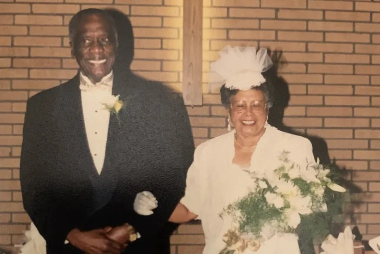 Calvin and Jacqulin Gunning, high school sweethearts, renewed their wedding vows in 1999 to celebrate their 50th anniversary.