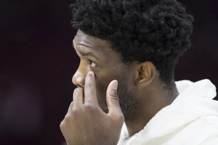Sixers' center Joel Embiid is onto the next step of his recovery process from a concussion and a broken left orbital bone.