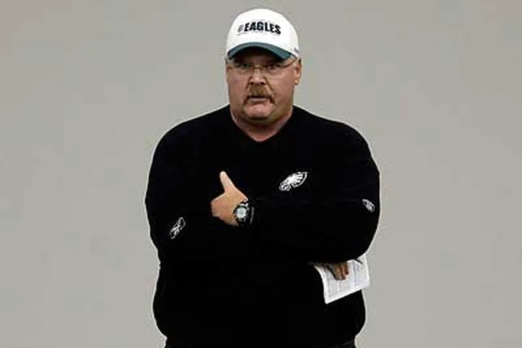 Andy Reid has drawn plenty of criticism during the Eagles' four-game losing streak. (David Maialetti/Staff Photographer)