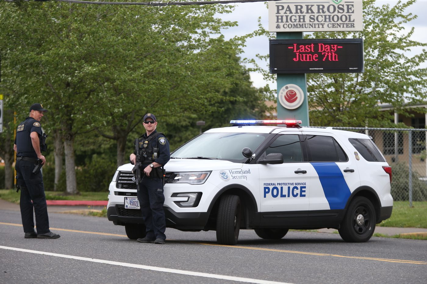 School Staffer Disarms Gunman Outside Portland High School