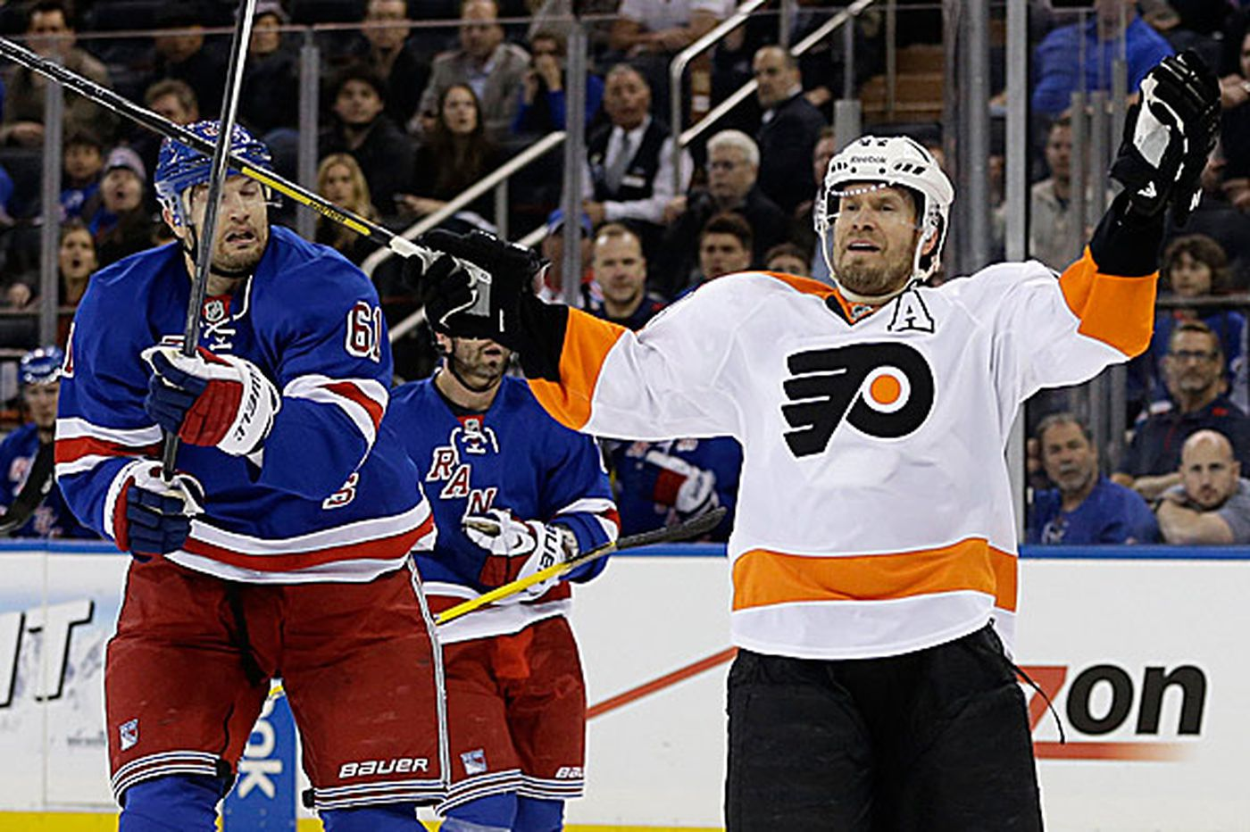 Flyers Notes: Rangers simply stronger at even strength