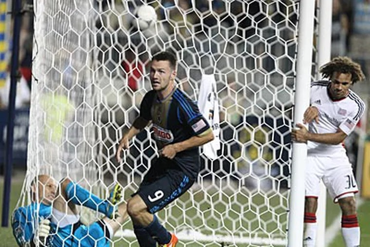 Jack McInerney has scored in three straight games for the Union. (Ron Cortes/Staff file photo)