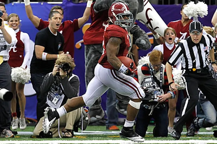 Alabama running back Trent Richardson helped lead the Crimson Tide to two national championships. (Gerald Herbert/AP file photo)