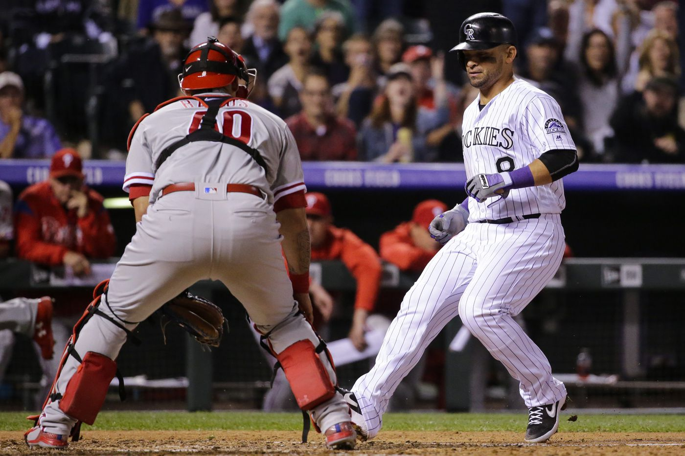 Phillies fall to .500 with 10-1 loss to Rockies