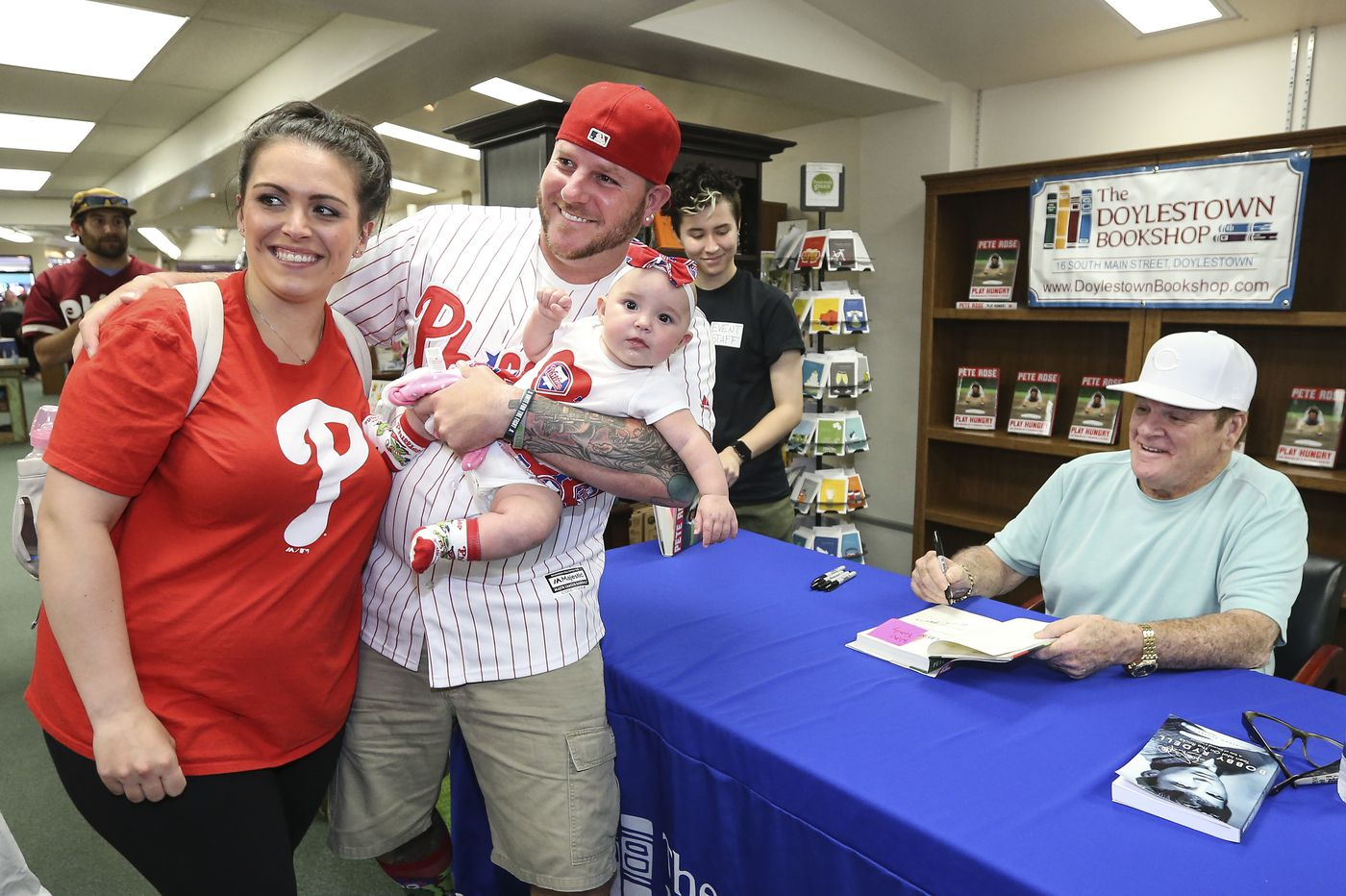 The UpShot: Phillies fans line up to meet Pete Rose at Doylestown book store