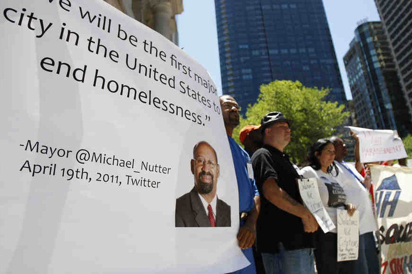 Rally in Philly against move to bolster police power over homeless