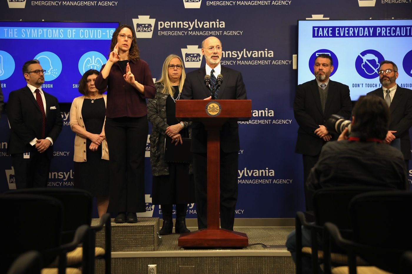 Coronavirus cases identified in Delaware County and South Jersey, and Gov. Wolf urges calm