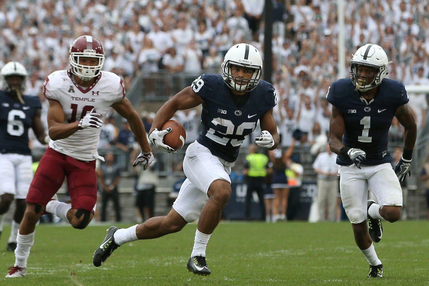 Penn State's John Reid, a St. Joseph's Prep grad, has no fear returning from knee injury