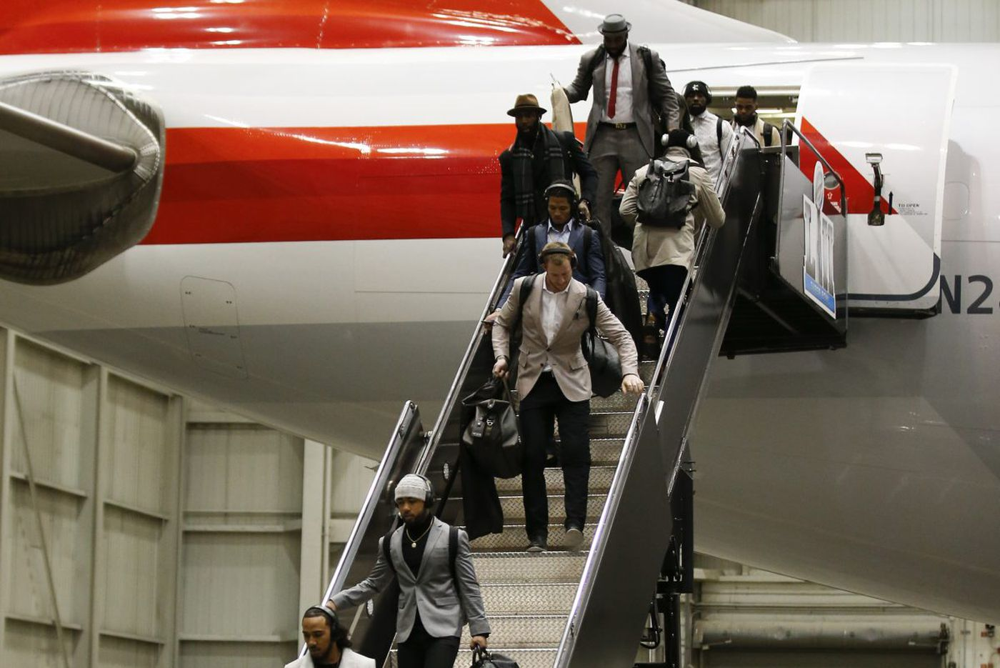 Super arrival: Eagles have touched down in Minnesota for the Super Bowl