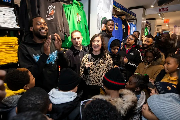 REFORM Alliance cofounders Meek Mill, Michael Rubin, and Clara Wu Tsai, along with Brooklyn Nets player Caris LeVert and DJ Khaled, hosted a special VIP experience for several dozen children who have a parent in prison for technical probation violations, have a parent who has been incarcerated for technical probation violations, or had their probation extended due to a technical probation violation on Dec. 21, 2019, at the NBA Store in New York.