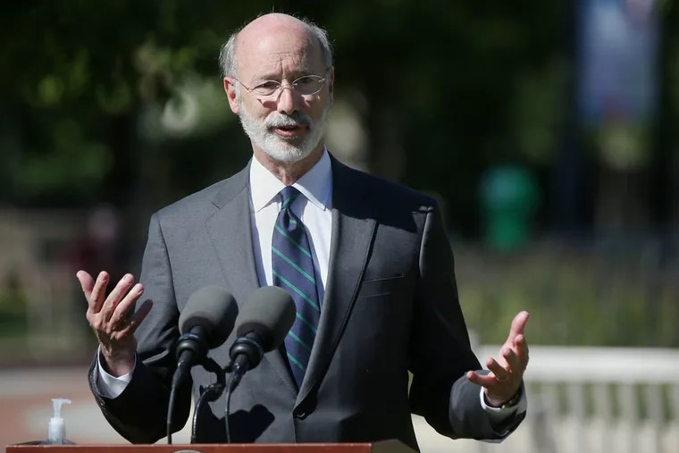 Gov. Tom Wolf during a news conference last fall.