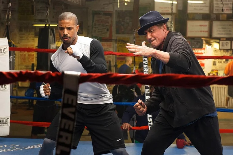 """Michael B. Jordan and Sylvester Stallone in """"Creed."""""""