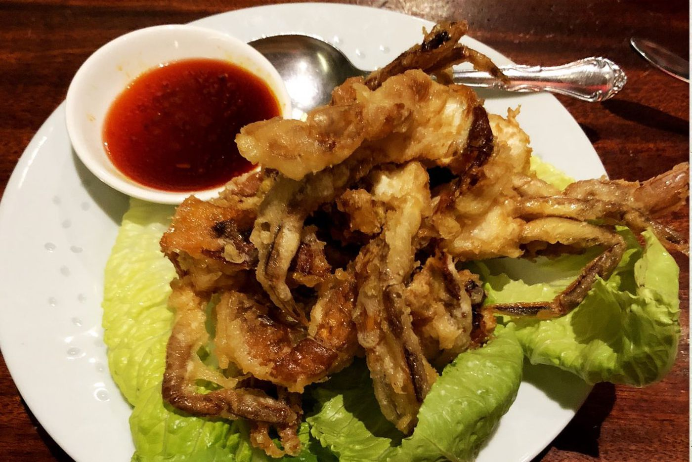 Spring begins with soft-shell crabs at Mustard Greens