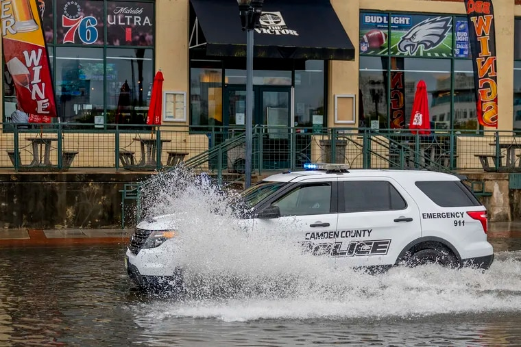 Downpours set off another round of floods, water rescues, and road closings in the Philly region