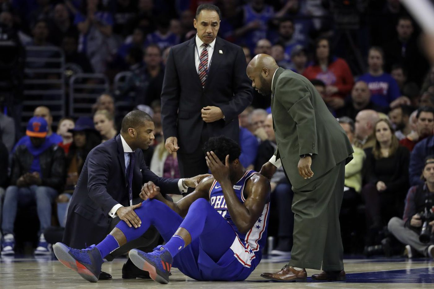 Joel Embiid's eye injury is not the first in his playing career