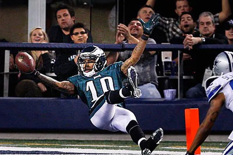 DeSean Jackson's touchdown celebration has been the subject of many headlines. (Ron Cortes/Staff Photographer)