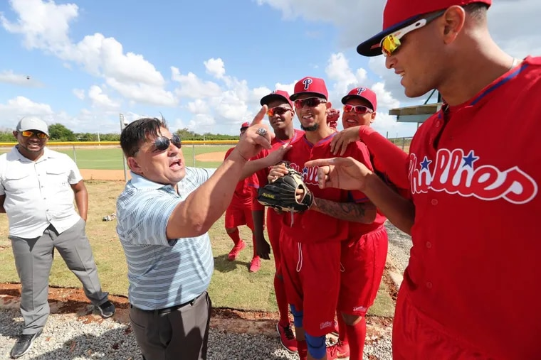 Scouting director Sal Agostinelli at the new Phillies Dominican Republic academy in Boca Chica Tuesday January 17, 2017. ( DAVID SWANSON / Staff Photographer )