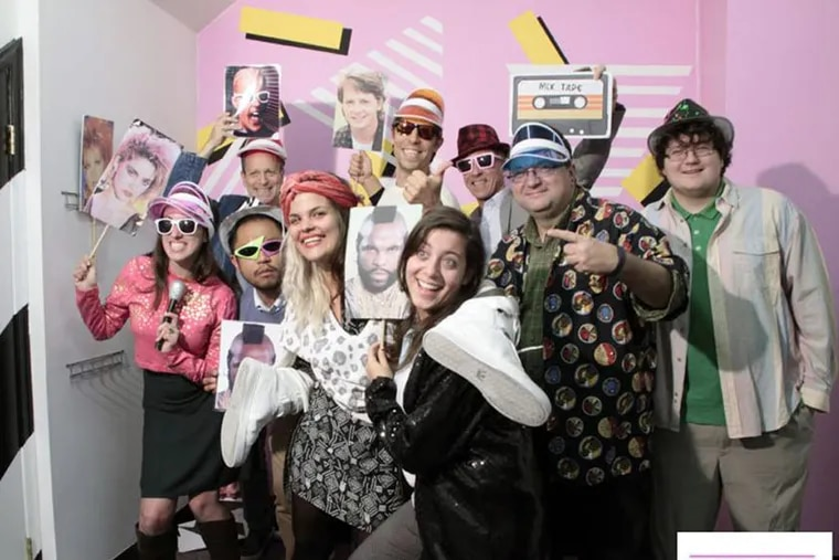 """Gamers get to show their '80s moves at """"Escape the '80s"""" on Passyunk Avenue in South Philadelphia. It's a real-life dress-up experience."""